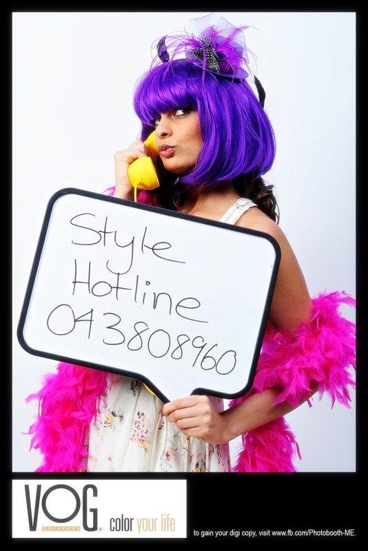 Jumeirah candy couture for Vog hair salon