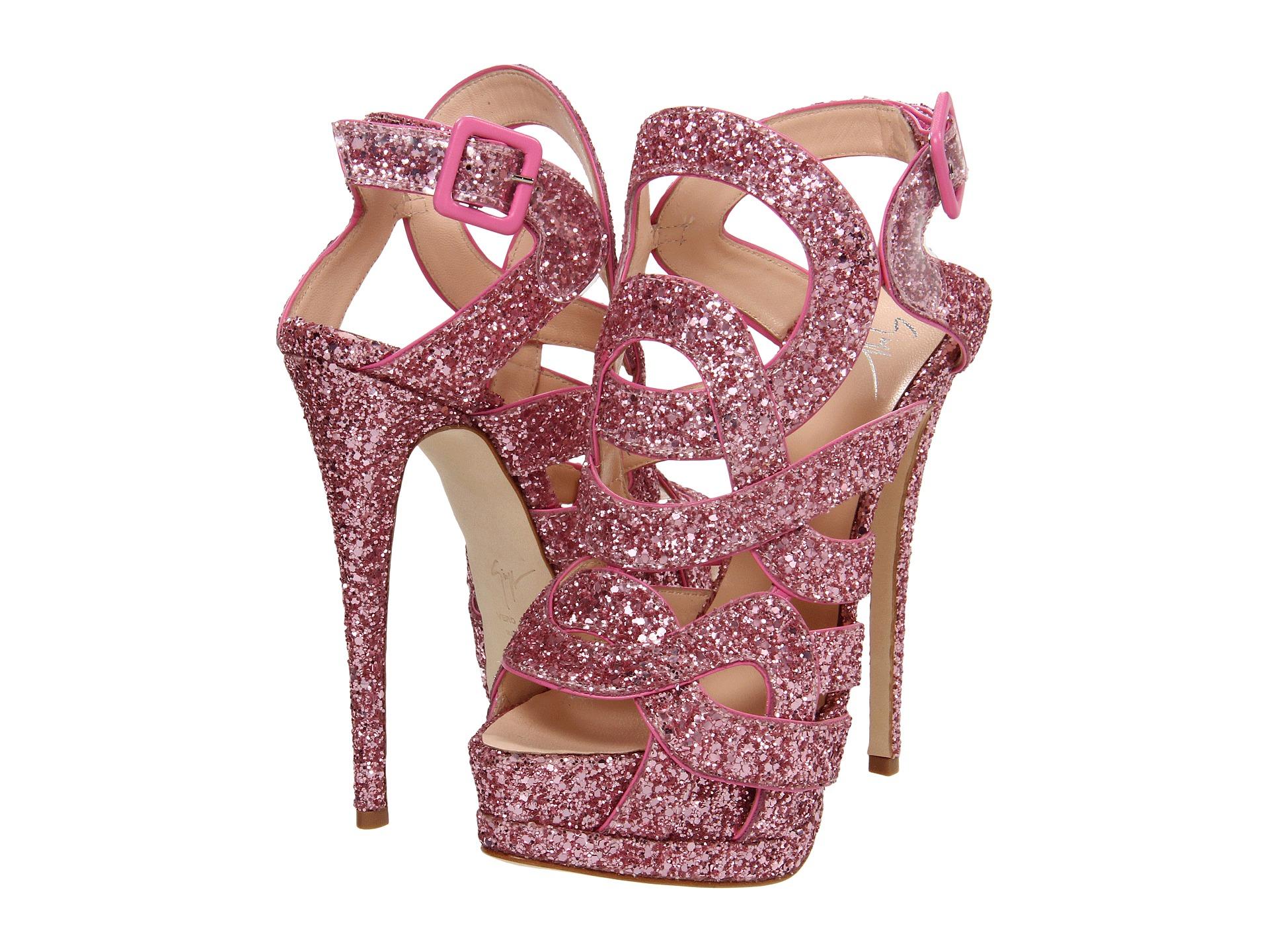 Pink Glitter Platform Heels